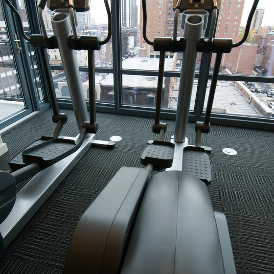 Elliptical machines provide a low impact cardiovascular workout.