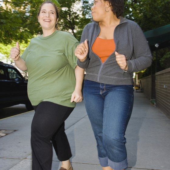 A regular walking routine burns calories, increasing weight loss.