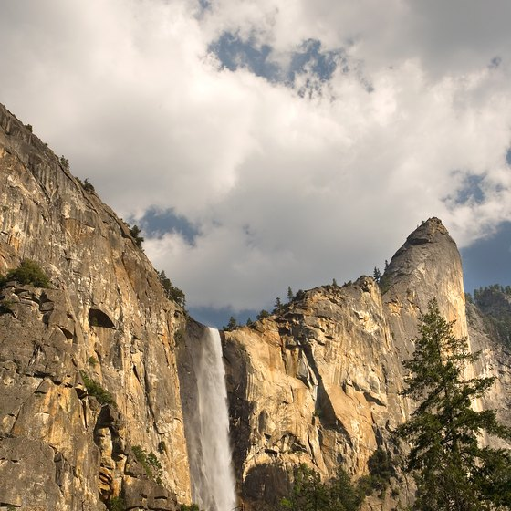 Bridalveil Fall is one of the most famous waterfalls in Yosemite National Park..