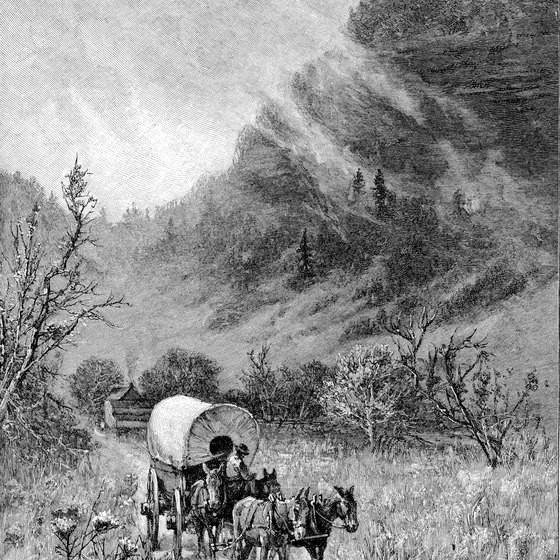 "Early settlers came through the Cumberland Gap in eastern Kentucky to settle what was then called ""the West."""