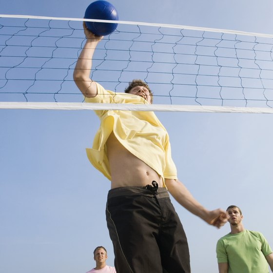 Spiking the ball is just one of many skills used in volleyball.