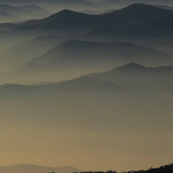 The Great Smoky Mountains, near Maryville, straddle the Tennessee-North Carolina state line.