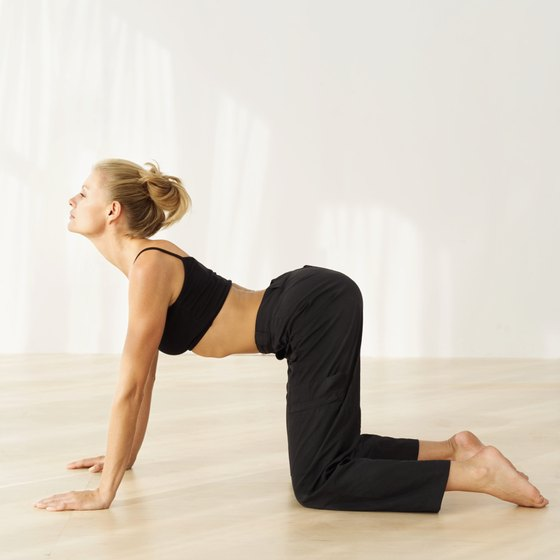 Create flexibility in your spine with yoga.