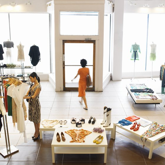 Fashion designers often use storefronts more for visual presentation and promotion than profits.