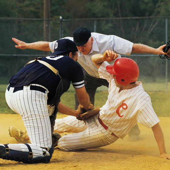Shin guards should protect the catcher from injury while allowing full mobility.