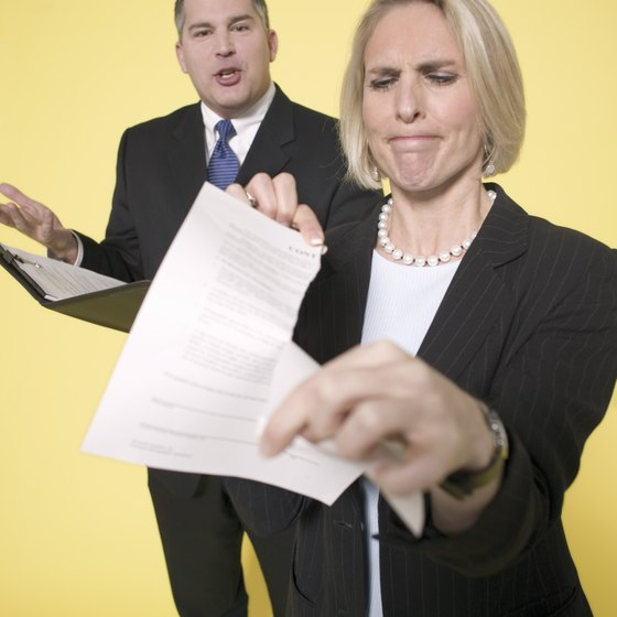 Terminating a contract the wrong way can be a civil offense.