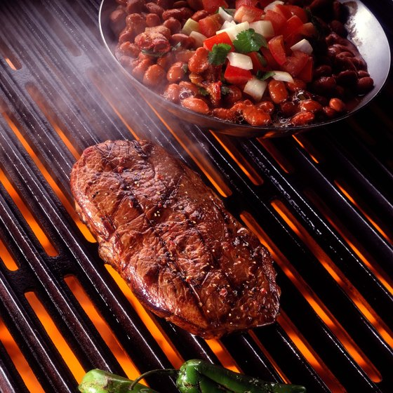 Rib eye steaks provide beneficial protein and zinc.