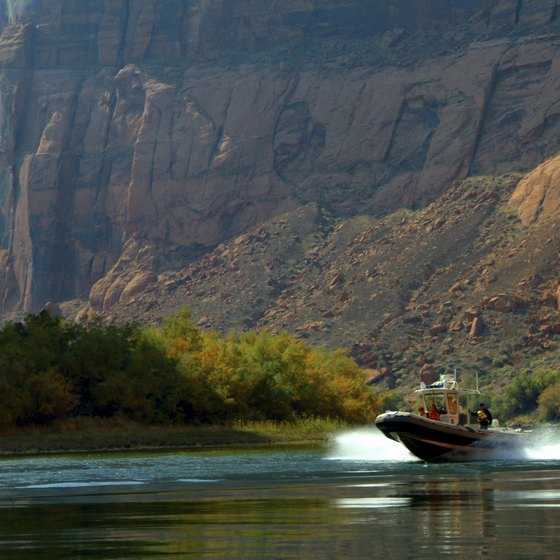 You can boat to many campsites along the Colorado River.