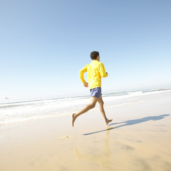 Jogging is an effective aerobic exercise to help you burn calories.