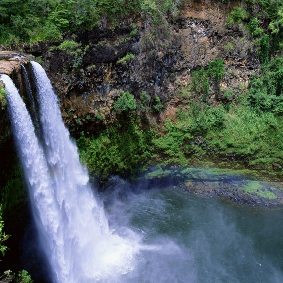 "The ""wettest place on earth,"" Kauai is studded with waterfalls and swimming holes."