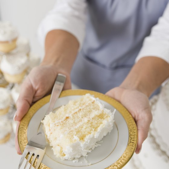 A slice of cake can contain almost 600 empty calories.