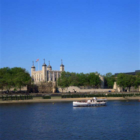 The Tower of London sits on the north bank of the River Thames.
