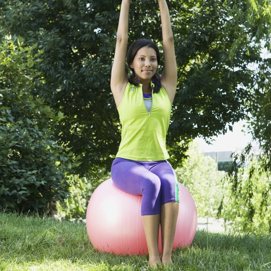 Take your stability ball outside for a change of scenery while you exercise.