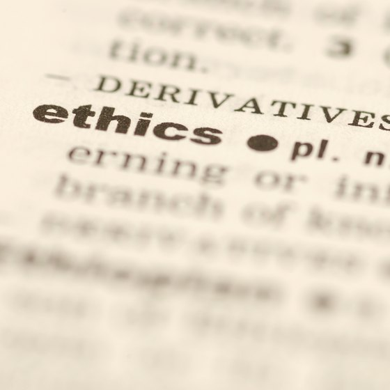 Business ethics codes are voluntary undertakings by corporations to respect certain principles.