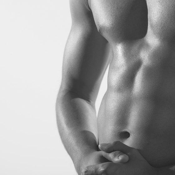 Lose fat to reveal your pecs.