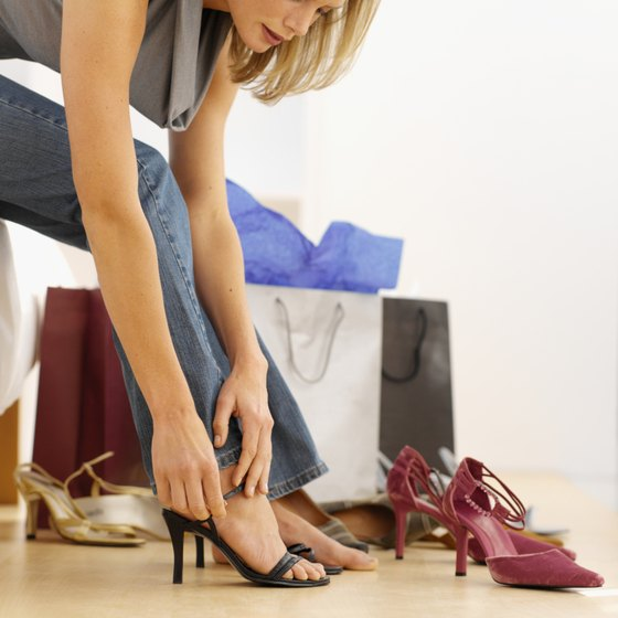 Price changes influence how many shoes consumers will buy.