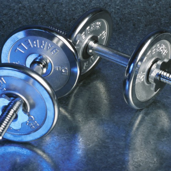 Hold weights to make the split squat exercise more challenging.