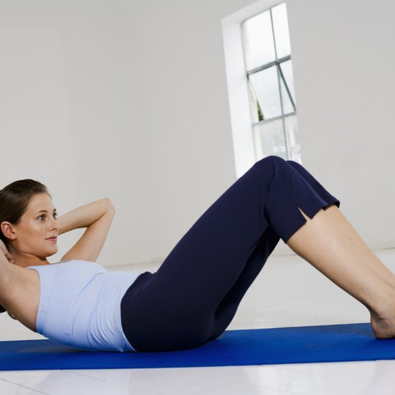 This is the most basic core exercise -- a situp.