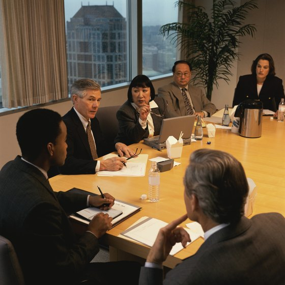Business meetings should follow an organized agenda.
