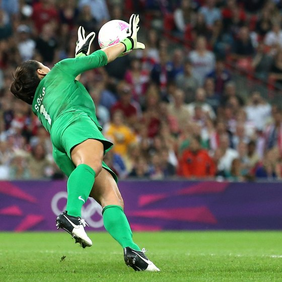 Agility helps Hope Solo make a crucial save against Japan to win Olympic gold in 2012.