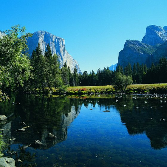 Visitors can tour Yosemite Valley and other areas of the park by car.