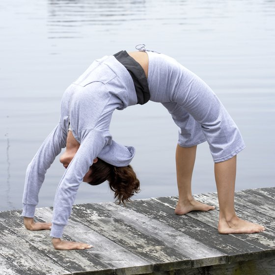 The backbend requires full-body flexibilty and strength.