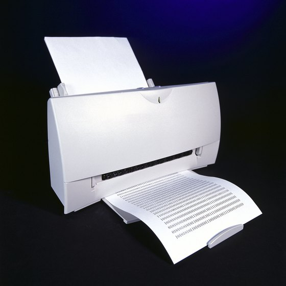 Modern printers are compact and produce high-quality documents.