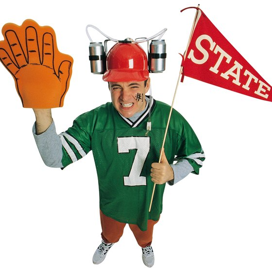 """Sports organizations make extensive use of """"team"""" clothing."""
