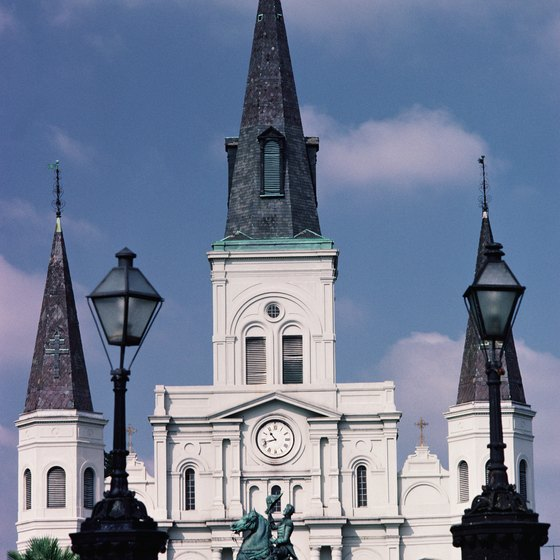 St. Louis Cathedral in the French Quarter is just one site seen from a New Orleans riverboat cruise.