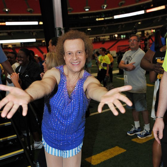 Richard Simmons is known for his flamboyant style.