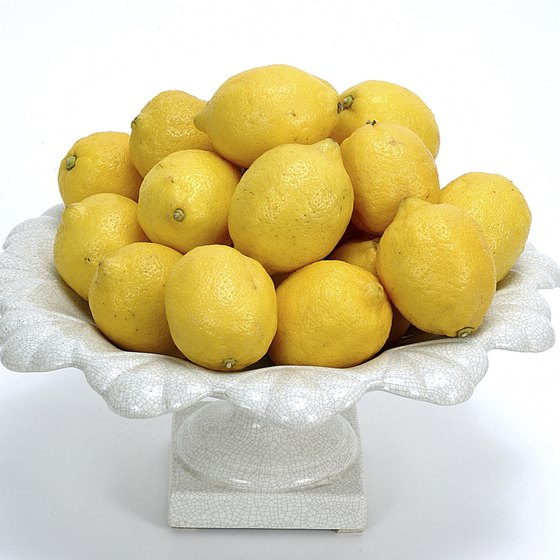 Fresh lemons are required to make the master cleanse drink.