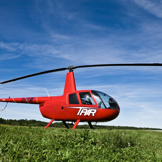 A helicopter's minimal requirements for landing places translates into lots of income opportunities.