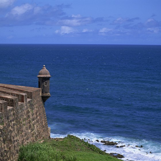 El Morro Castle overlooks San Juan Bay.