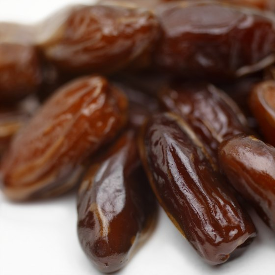 Dates contain more potassium than dried prunes or apples.