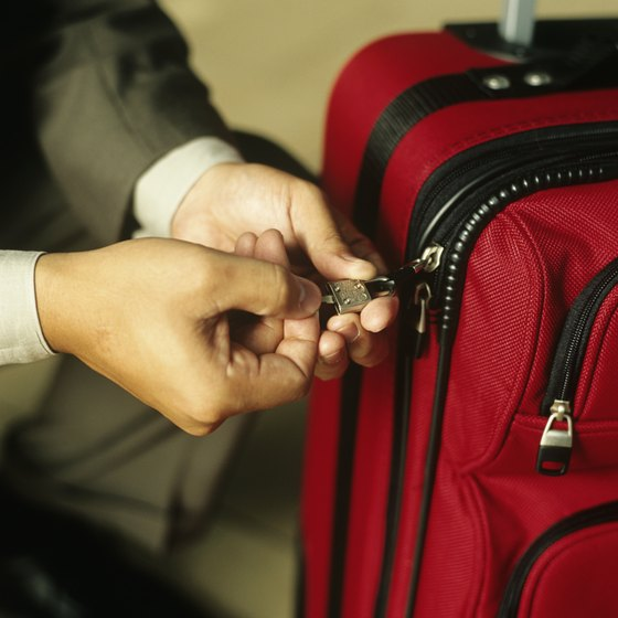 Use a TSA-approved lock for your luggage or risk having your lock cut off.