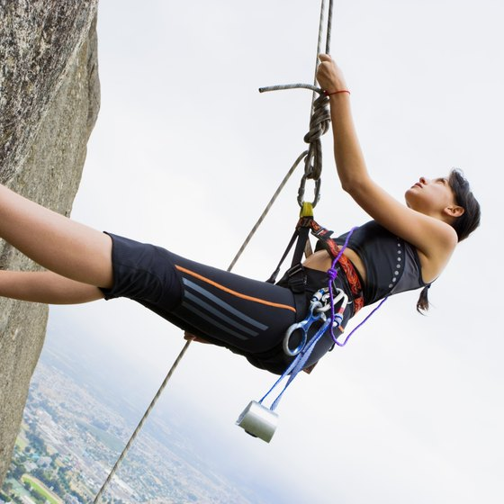 Challenge yourself with a vertical workout at an indoor rock climbing facility.