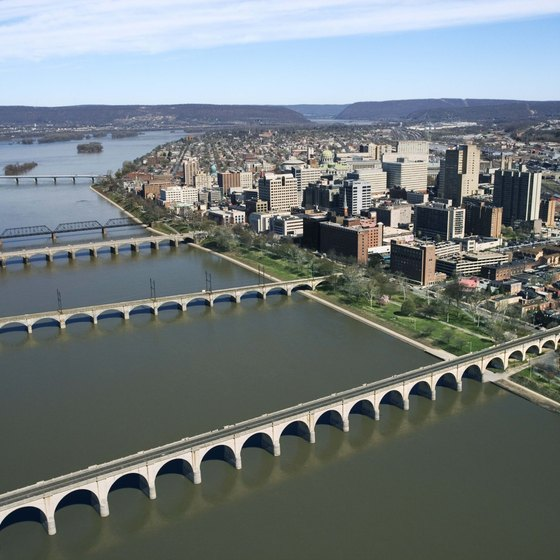The Susquehanna River is a natural landmark in Harrisburg.
