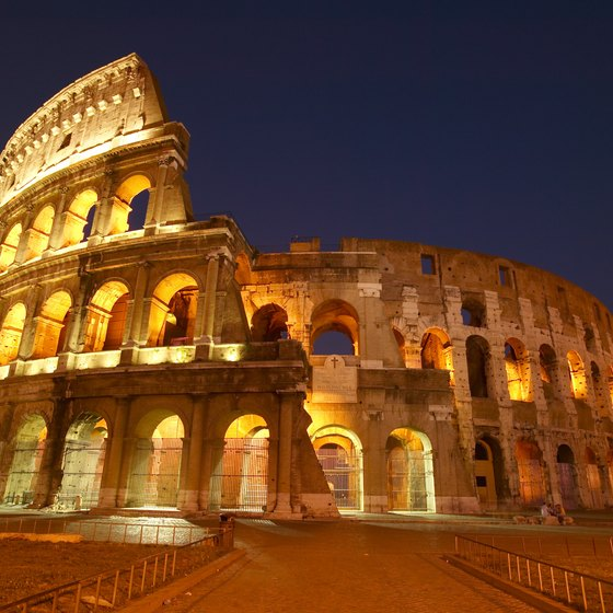 When in Rome, the coliseum is a must-see.