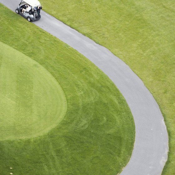 Always drive your golf cart on the designated path.