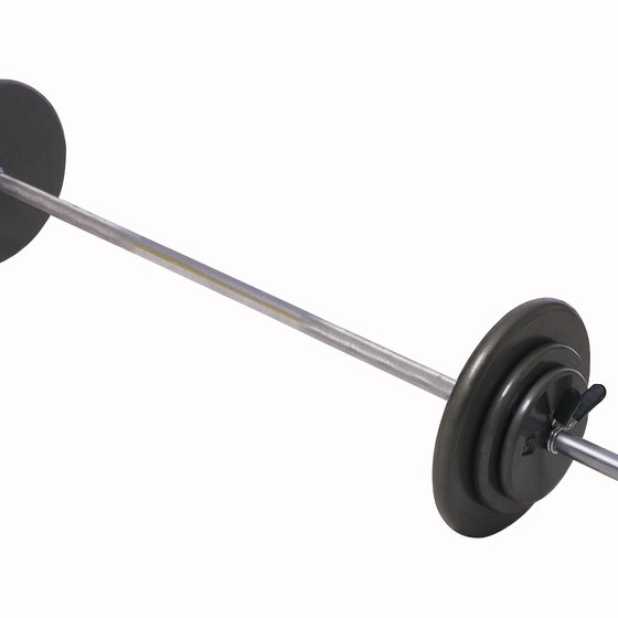 The barbell is a great exercise device for senior citizens.