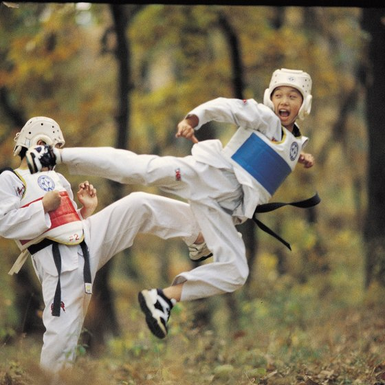 Taekwondo is just one of several martial arts that require groin flexibility.