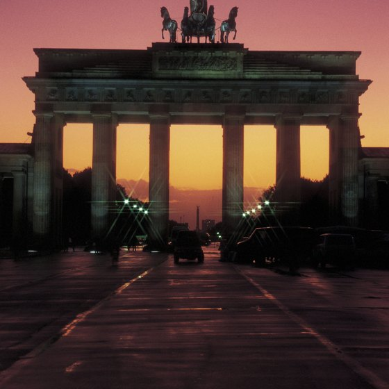 The Brandenburg Gate is a Berlin landmark.