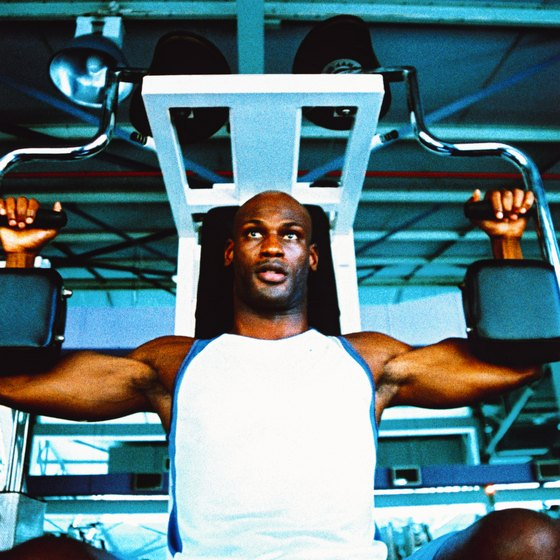 The butterfly exercise can help build your chest.