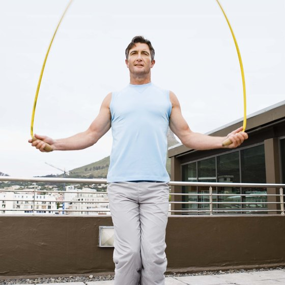 Safely jumping rope can improve your fitness.
