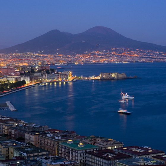 Cargo ships, cruise ships and island ferries use the port of Naples.