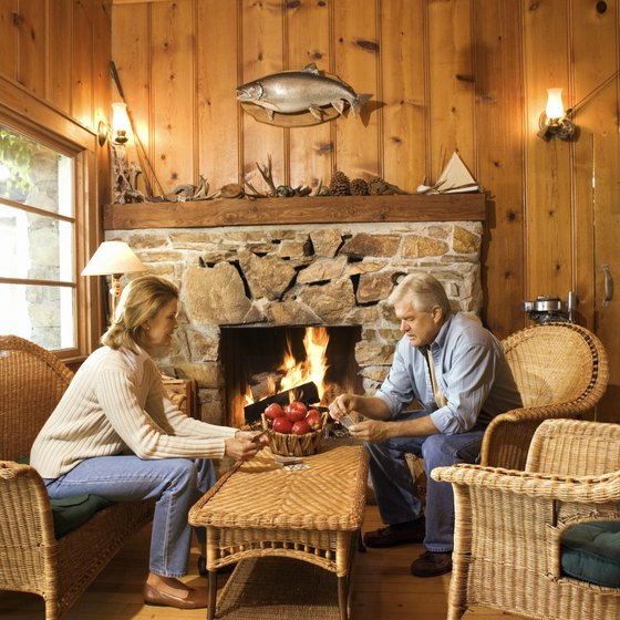 Log cabin retreats offer rustic appeal and modern convieniences.
