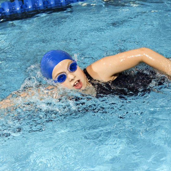 Swimming helps with weight loss because it burns calories and increases lean muscle mass.