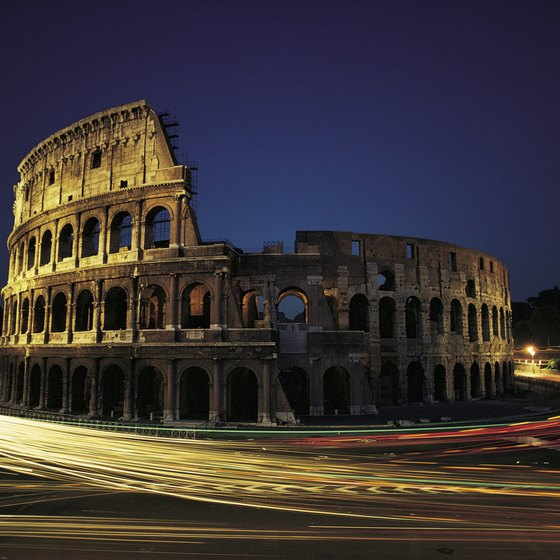The bus is a convenient way to get around in Rome.