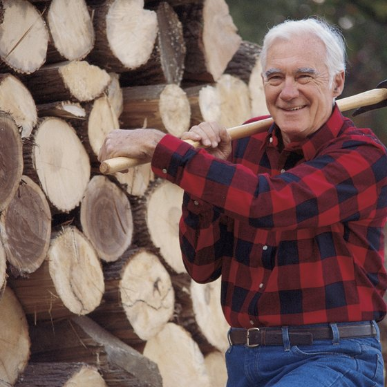 Chopping wood is a great way to exercise.