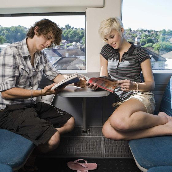Relax in comfort on a train trip.